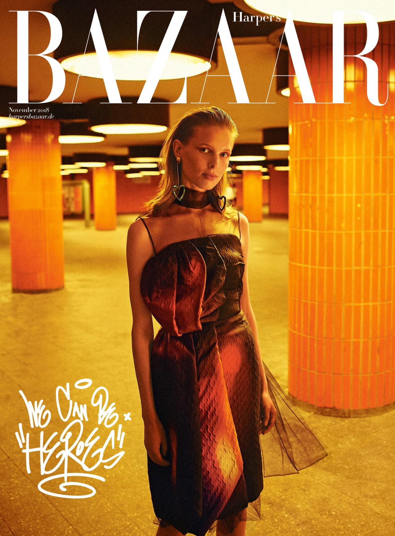 STELLA VON SENGER – HAIR & MAKE-UP ARTIST Harper's Bazaar Cover 11/2018